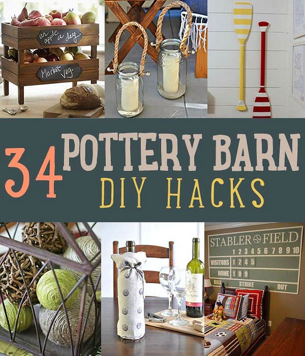 34 DIY Pottery Barn Hacks For Design On A Budget | DIY Projects's Ingenious DIY Hacks For Home Improvement