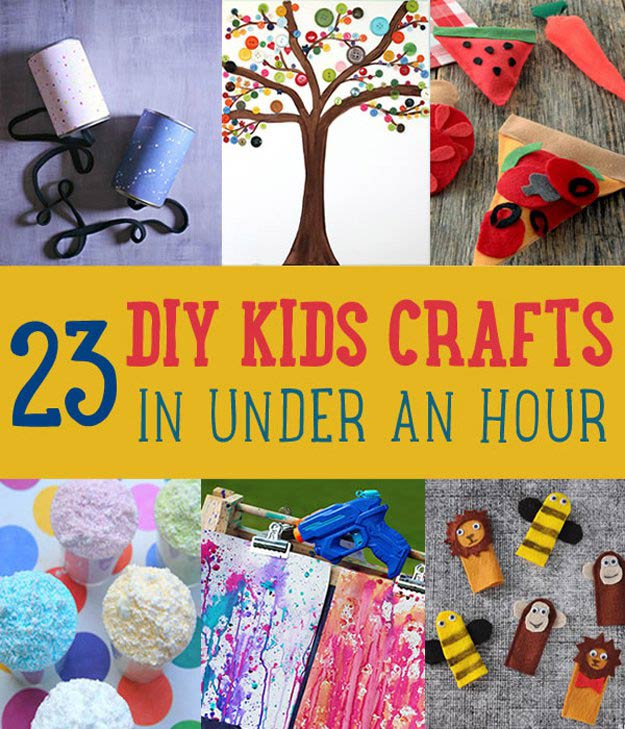 DIY Kids Crafts You Can Make in Under an Hour | DIY Projects's Ingeniously Easy DIY Projects To Entertain Kids