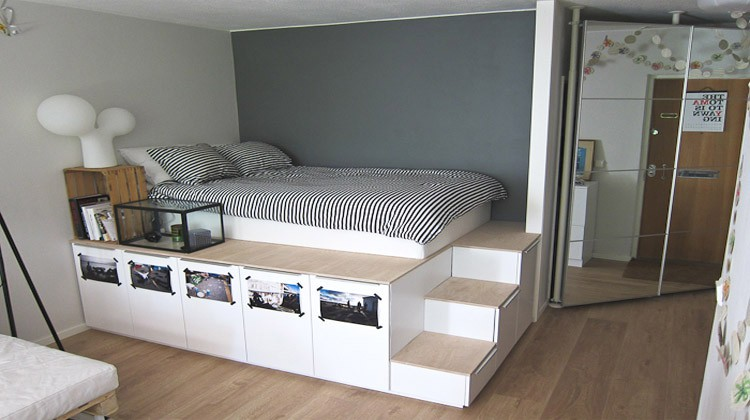 Diy platform bed ideas diy projects craft ideas how to - Fabriquer un lit avec des palettes ...