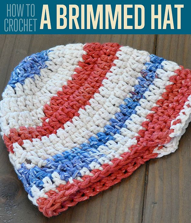 How To Crochet A Brimmed Hat | 24 Easy Crochet Patterns For Beginners To Get Started With