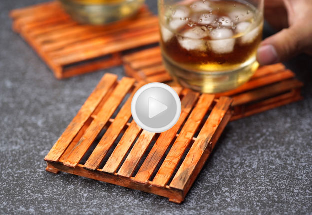 Mini Pallet Coasters Diy Projects Craft Ideas Amp How To S