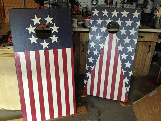 DIY American Flag Corn Hole Boards | Creative Corn Hole Boards To Inspire Your Next Backyard Game Night