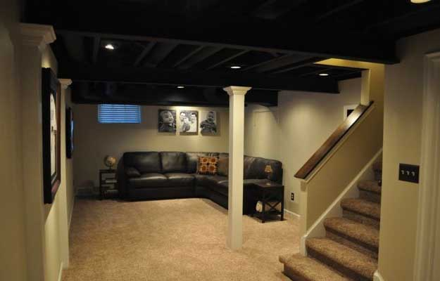 Paint It All Black | Low Basement Ceiling Ideas | Basement Makeover : basement low ceiling ideas  - Aeropaca.Org