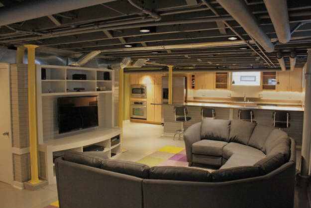 Basement makeover ideas diy projects craft ideas how to Basement ceiling color ideas