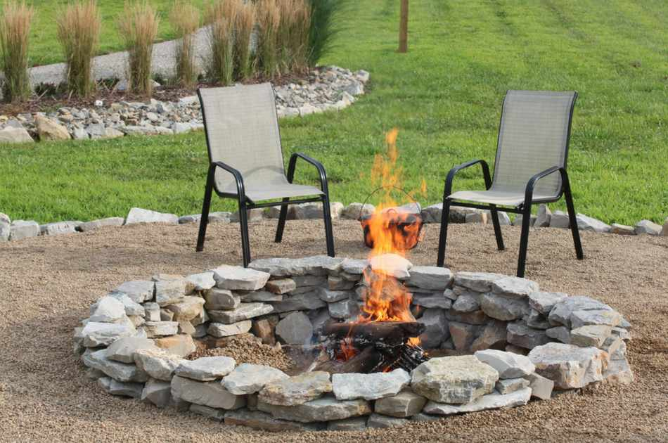 Enjoy Your Cool Nights Outdoors With A DIY Stone Fire Pit