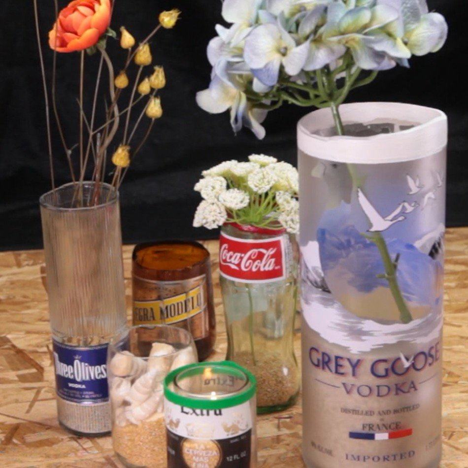 Turn Any Glass Bottle into a DIY Flower Vase