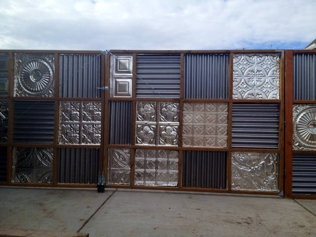 Corrugated Metal Fences   10 Creative Backyard Fence Ideas For Your Next DIY Project