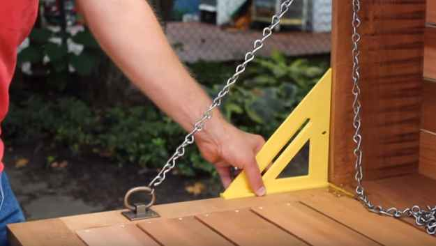 Install the Hinges and Rings | This Fold-Down Hanging Bar Is Perfect For Halloween Outdoor Parties