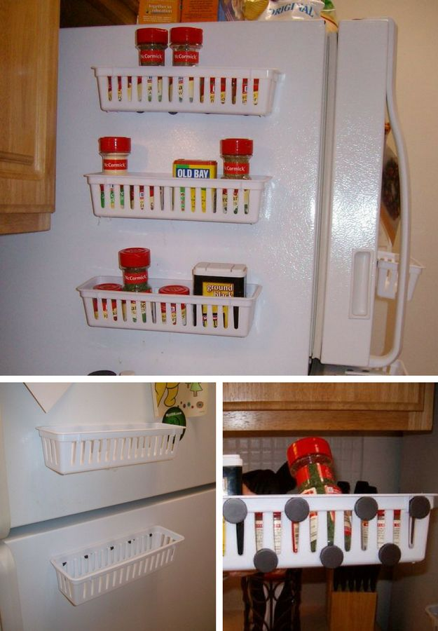 Magnetic Spice Rack for Refrigerator | Small Kitchen Ideas For Renters : How To Organize Efficiently This Holiday