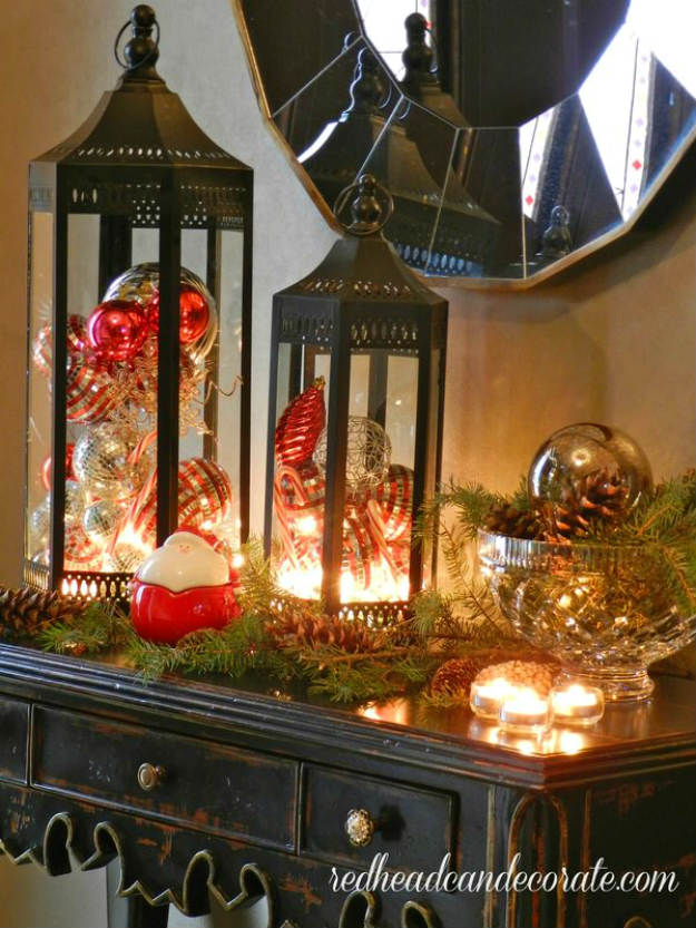 christmas bulbs lanterns diy christmas lanterns ideas to brighten up your home - How To Decorate A Lantern For Christmas