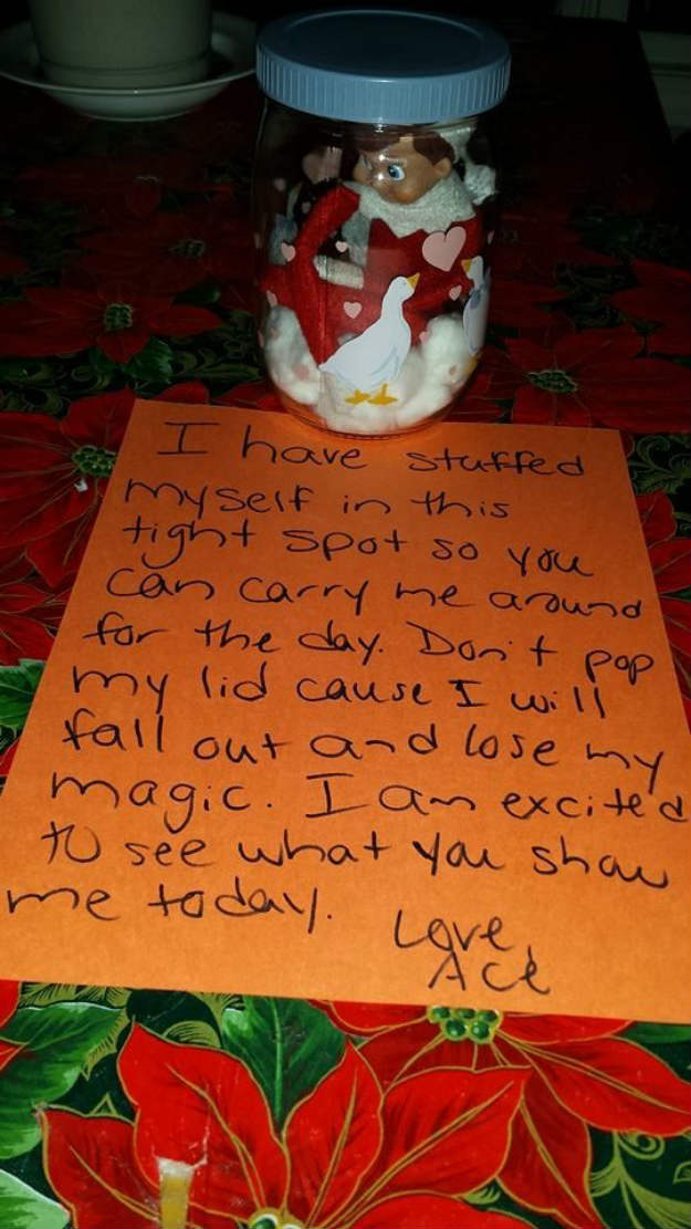 Elf In A Jar | The Best Hiding Spots For Your Elf On The Shelf