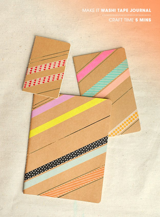 Washi Tape Journal | Awesome Ideas for DIY Journals and Diaries
