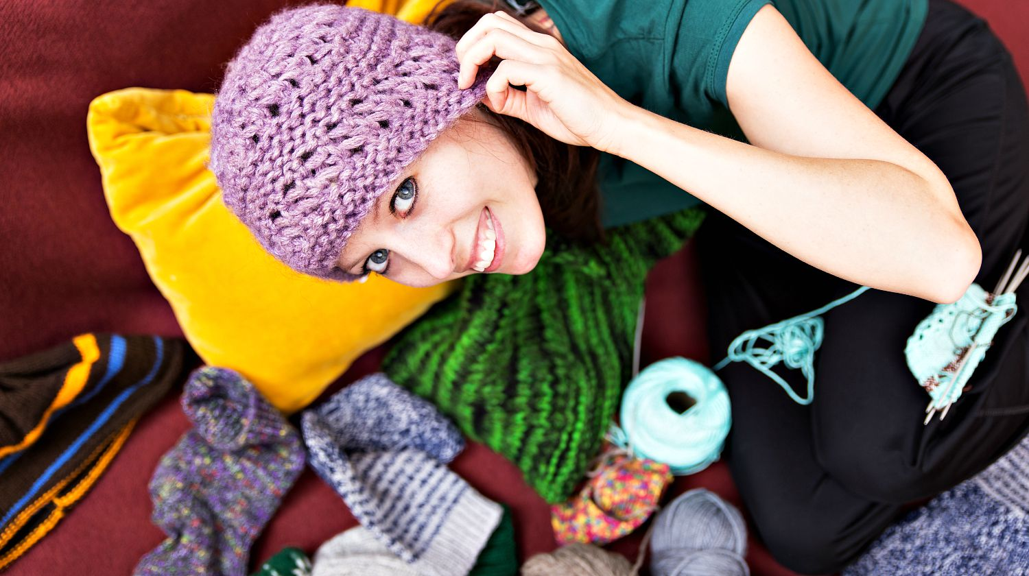 Featured   Pretty young woman with a wool hat   More Cool Projects For Teens