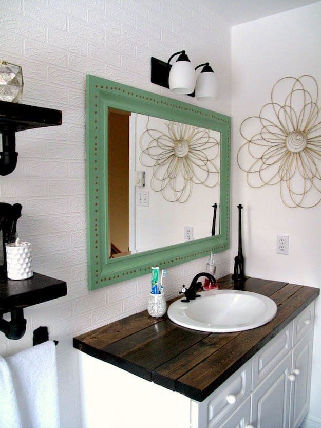 rustic top 7 chic diy bathroom vanity ideas for her - Bathroom Cabinets Diy