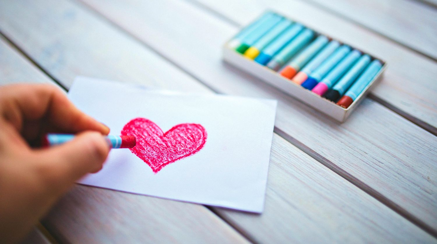 Feature | Person doing valentines card | DIY Valentine's Day Crafts For The Kids