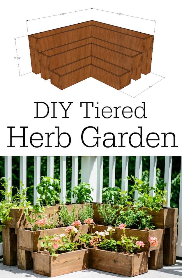 Tiered Herb Garden | Backyard Ideas for Small Yards To DIY This Spring