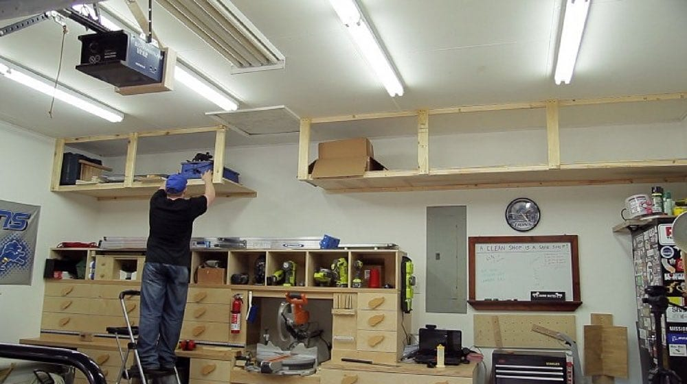Diy Garage Storage Shelves To Maximize E S