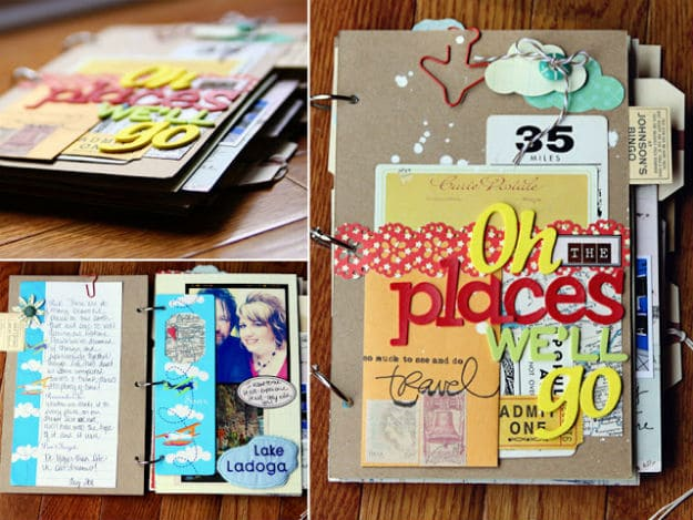 Travel Scrapbook | Fun and Creative Scrapbook Ideas
