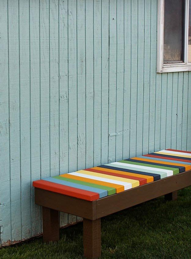 Outdoor Bench | Backyard Furniture Projects You Can DIY