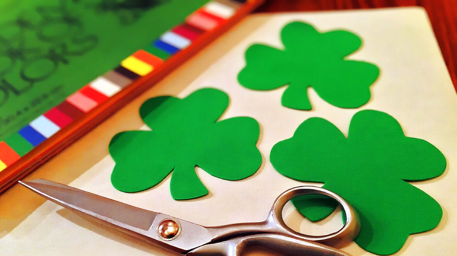 Feature | scissor and shamrock | St. Patrick's Day Party Ideas for DIYers
