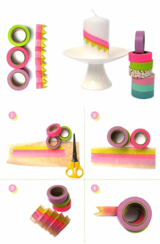 Decorated Candle | Creative Ways to Personalize with Washi Tape