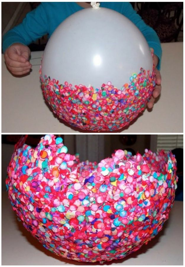 balloon bowl a kids craft to try this week diy projects