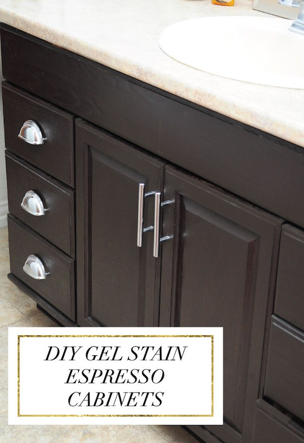Stain Oak Cabinets | Incredible Bathroom Makeover Ideas Anyone Can DIY