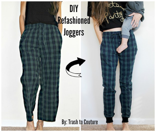 PJs To Joggers Refashion   Easy DIY Clothes   Pants & Skirts for Women