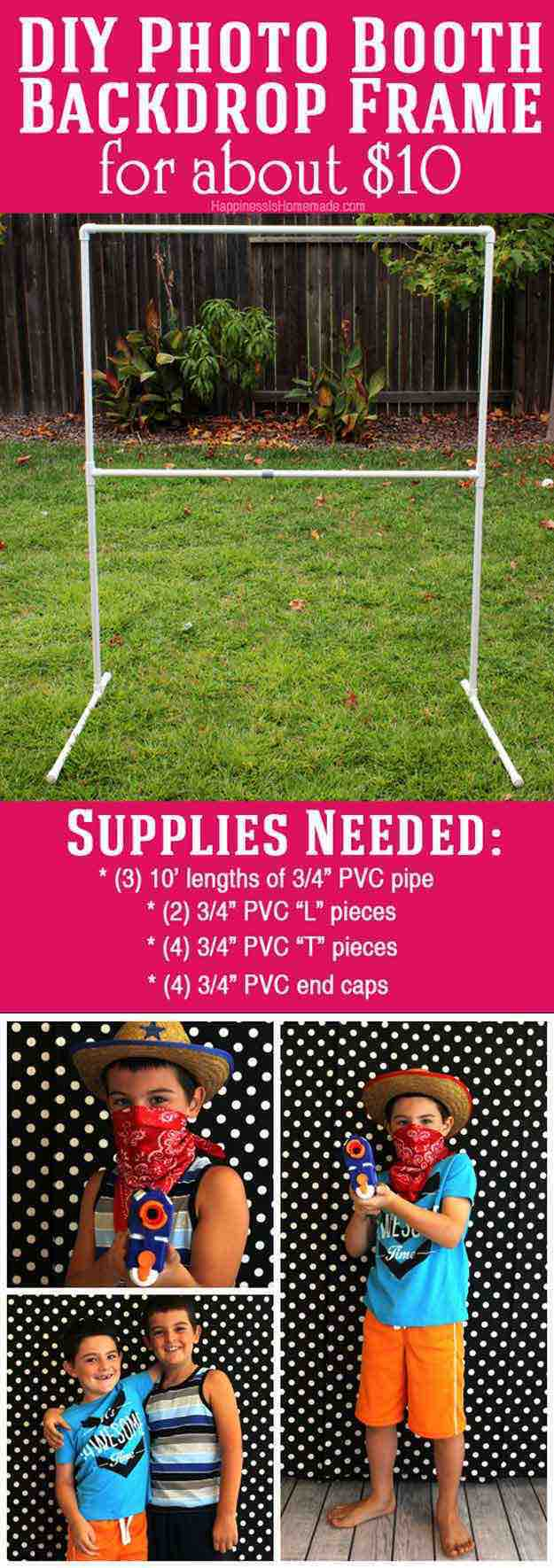 25 diy photo booth ideas for your next shindig diy projects 10 backdrop frame diy photo booth ideas for your next shindig solutioingenieria Choice Image