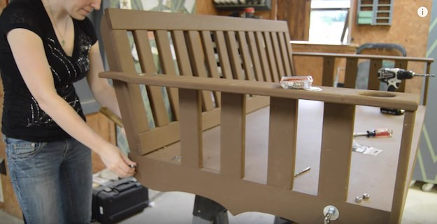Attach Carriage Bolt And Add Chain | A DIY Hanging Daybed Plan For The Outdoors
