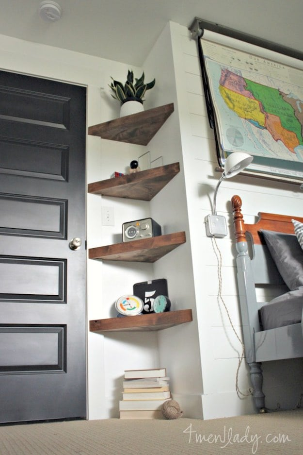 Good Small Corner Shelves | Simple Living Room Shelving Ideas Amazing Pictures