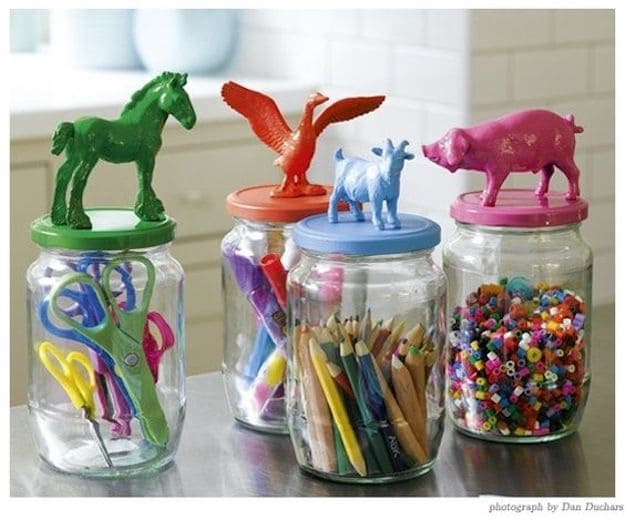Craft Storage Hack | Things to Do with Glass Jars : DIY Recycling Projects