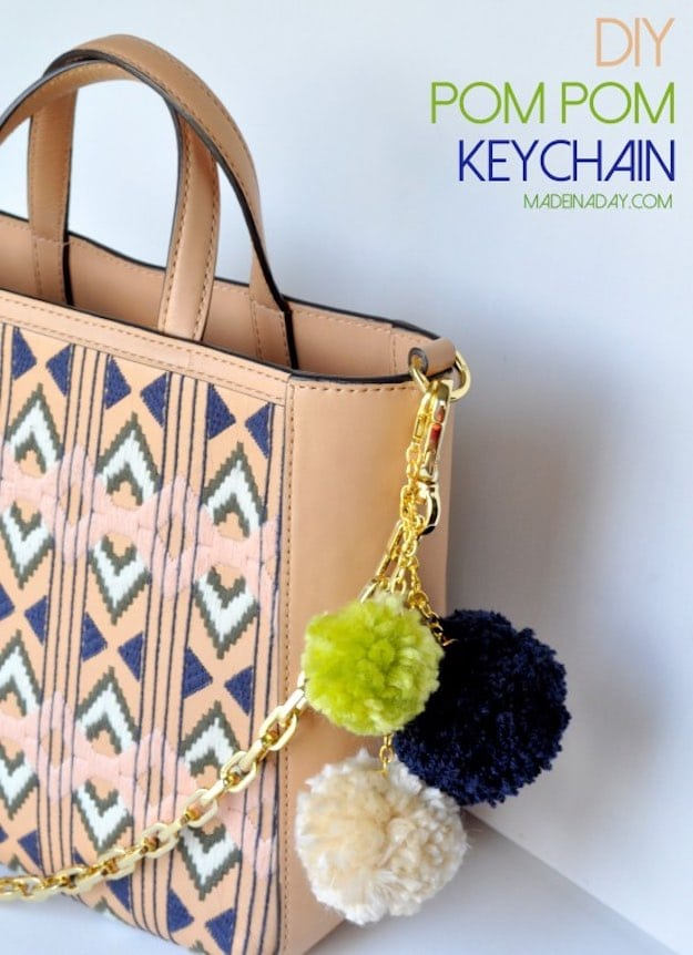 Pompom Keychain | Cool Crafts for Teens | DIY Projects for Teens