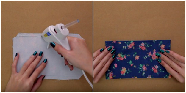 Step 13: Fold The Sides Of The Fabric | How To Make A DIY Book Clutch | DIY Projects.com