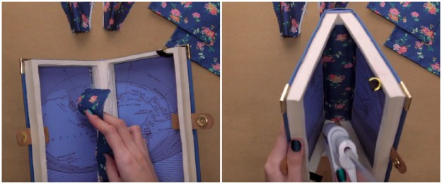 Step 16: Cover The Middle Of The Book | How To Make A DIY Book Clutch | DIY Projects.com