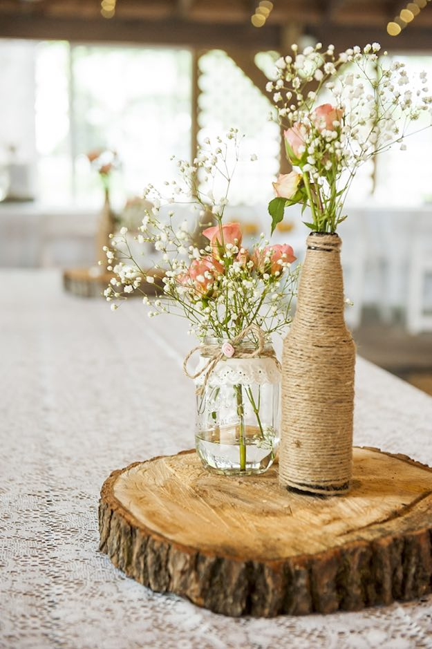 Mason Jar Decor Part - 36: Rustic Wedding Centerpiece | Rustic Mason Jar Centerpieces