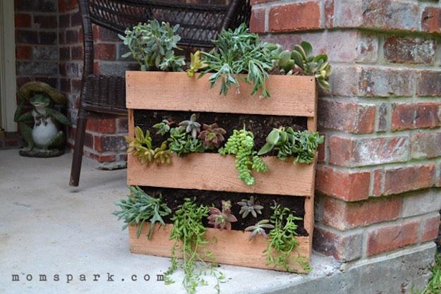 Cedar Pallet Succulent Planter | Creative DIY Pallet Planter Ideas for Spring