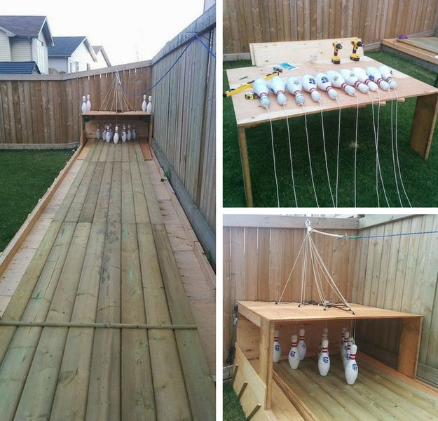 Build Your Own Backyard Bowling Alley | DIY Backyard Ideas To Do In Your Yard