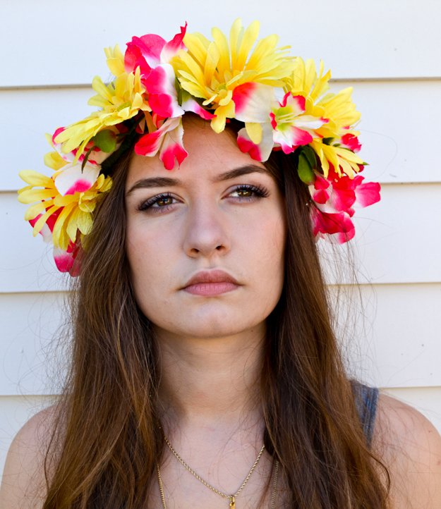 Dress Up With A Flower Crown | DIY Beach Party Ideas For Your Beach-Themed Celebration