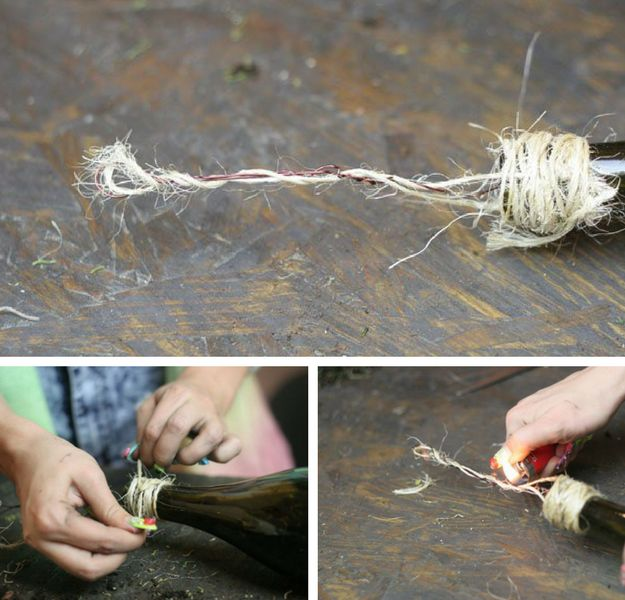 Step 10: Add Twine | Wine Bottle Crafts | How To Make Wine Bottle Planters