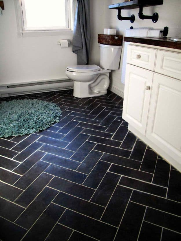 Diy bathroom tile ideas diy projects bathroom projects for Bathroom flooring options