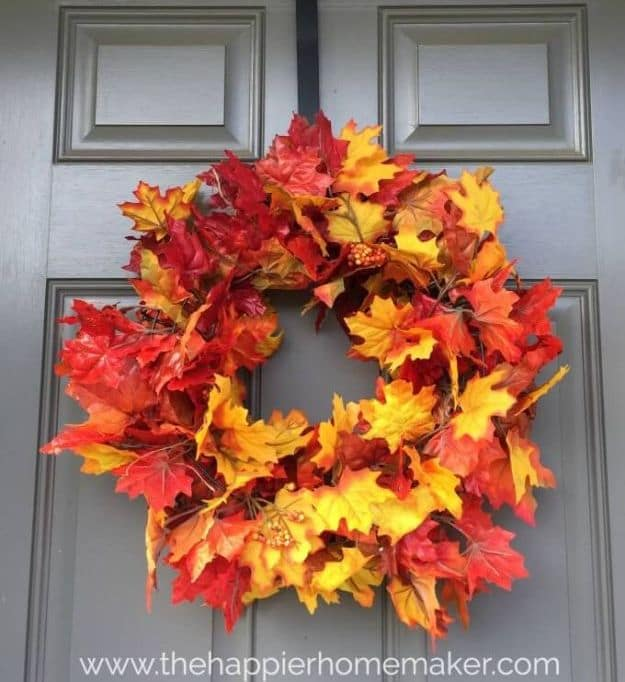 diy fall door decorations fall outdoor decor diy projects