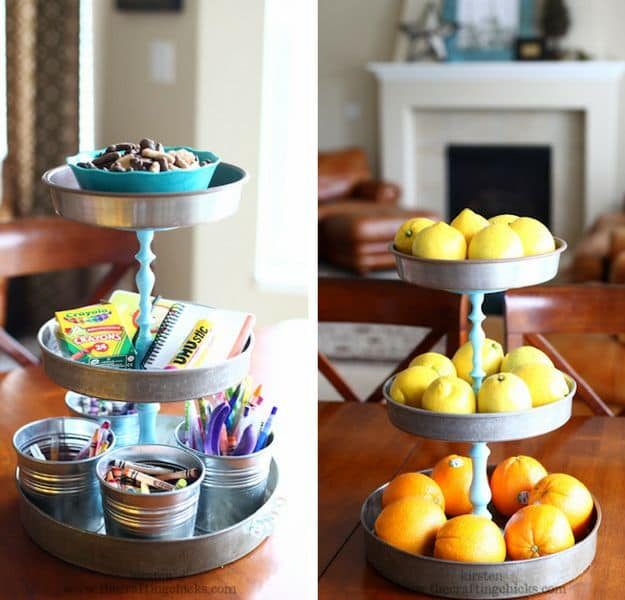 Triple Tiered Stand | DIY Pottery Barn Hacks