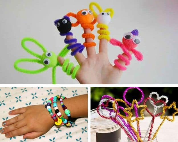 How About Pipe Cleaner Crafts? | Fun DIY Sleepover Ideas For Kids