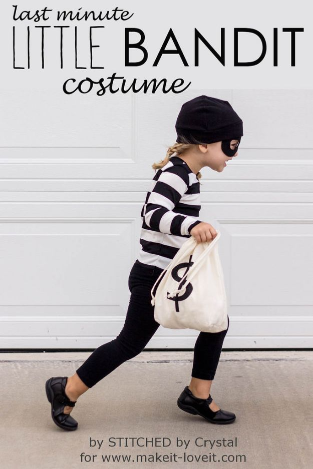 Little Bandit Costume | Last Minute Halloween Costumes For Kids