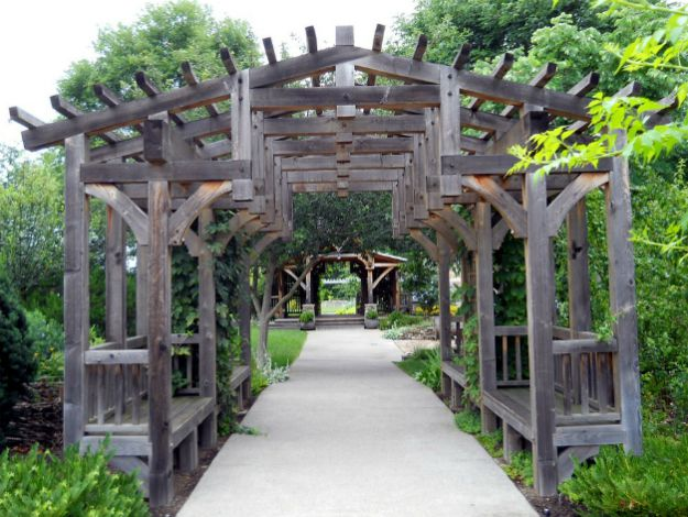 Pergola with Built-In Benches | Amazing Pergola Ideas For Your Backyard | cheap pergola ideas
