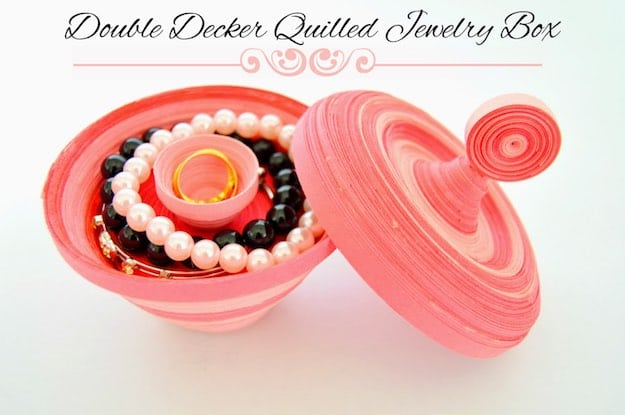 Double Decker Quilled Jewelry Box | Easy Crafts To Make And Sell