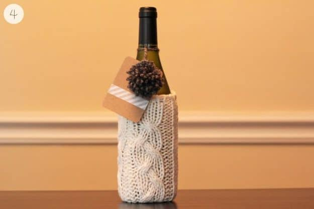 Wine Bottle Sleeve | DIY Hostess Gifts Perfect For Party Season