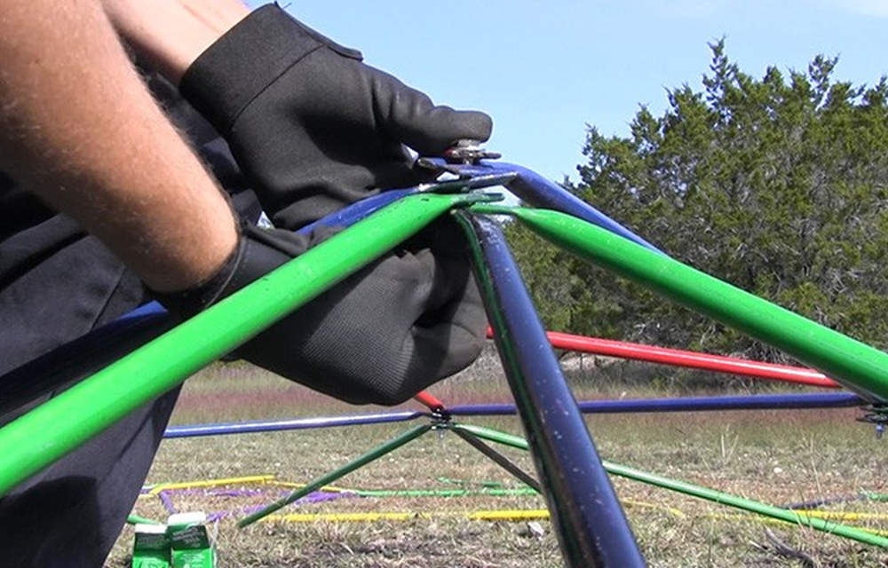Joining tubes with screw | How To Build A Geodesic Dome: 268 Square Feet for $300 | types of geodesic domes