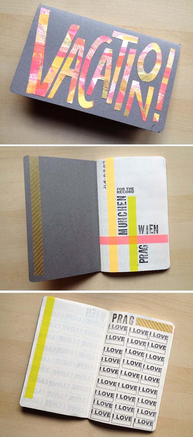DIY Travel Journal | Washi Tape Ideas To Style And Personalize Your Items